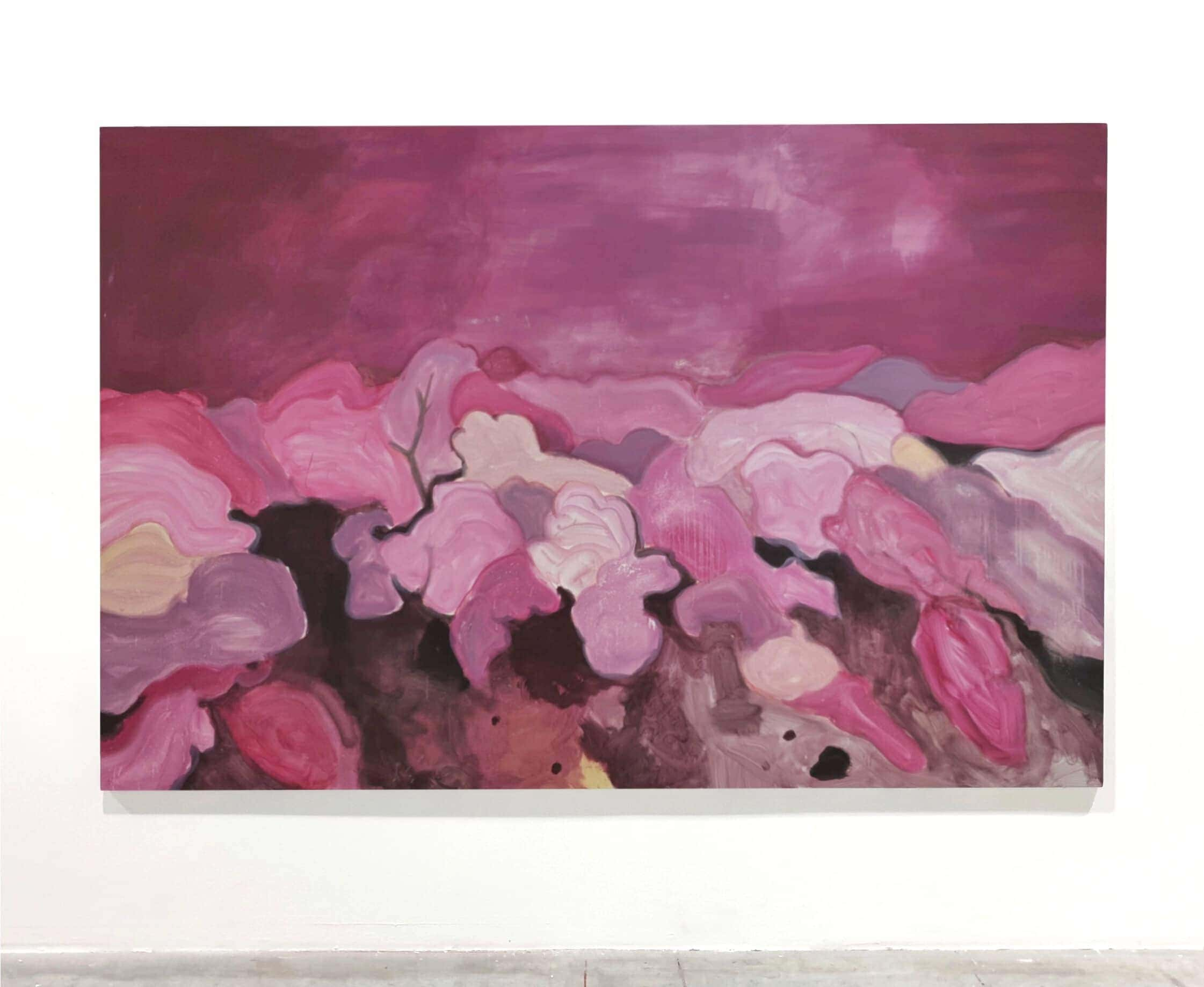 Paysage 7 300×200 cm acrylic oil and pastel on canvas 2019 Lou Ros